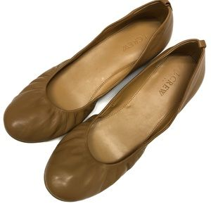 J CREW Anya Leather Ballet Flat Shoe Sz 9